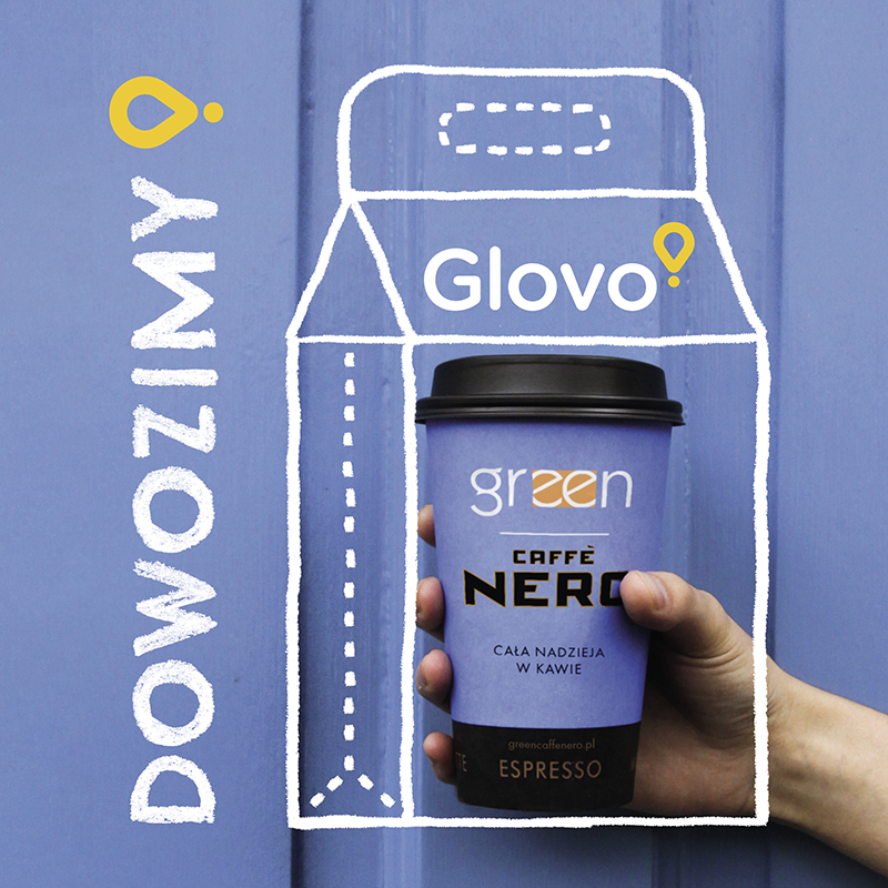 Green Caffè Nero w partnerstwie z Glovo rusza z dostawami