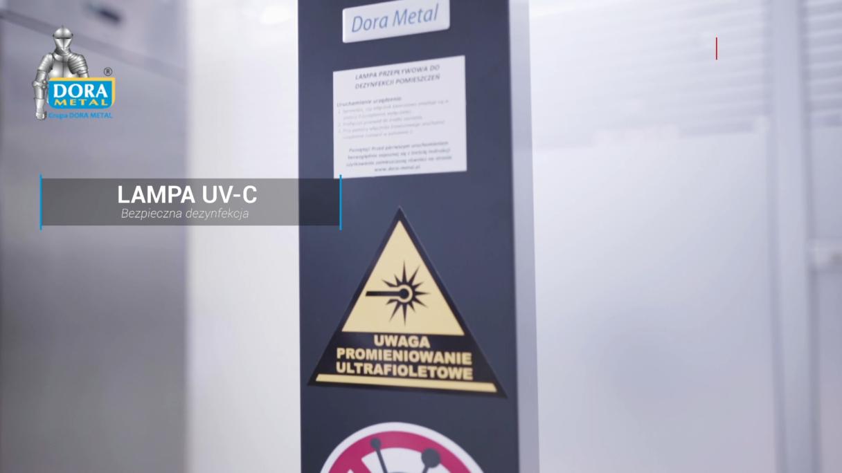 Lampa UV-C pomaga w walce z koronawirusem